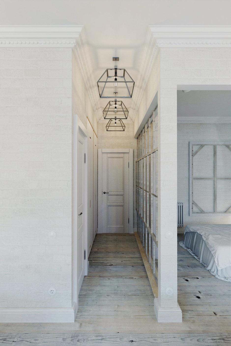 Фотография: Прихожая в стиле Лофт, Скандинавский, Квартира, Цвет в интерьере, Дома и квартиры, Белый – фото на InMyRoom.ru