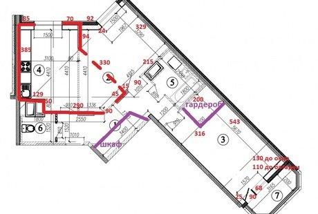 HELP!!! нестандартное помещение 17 кв. м., нужно сделать кухню-гостиную