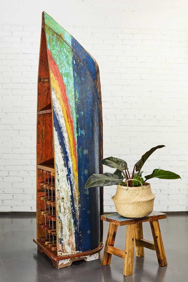 Купить Винный шкаф тасман из старой рыбацкой лодки, inmyroom, Индонезия