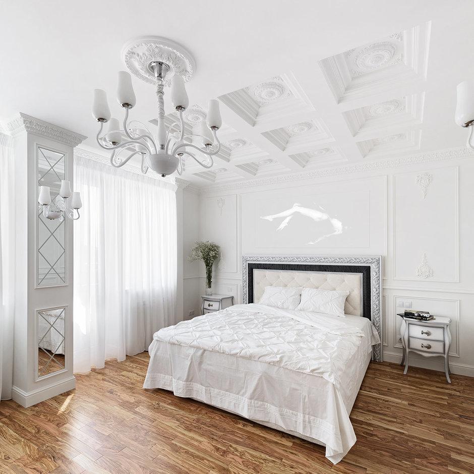 Фотография: Спальня в стиле , Квартира, Цвет в интерьере, Дома и квартиры, Белый, Проект недели – фото на InMyRoom.ru