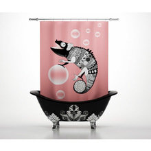 Штора для ванной: Милый хамелеон
