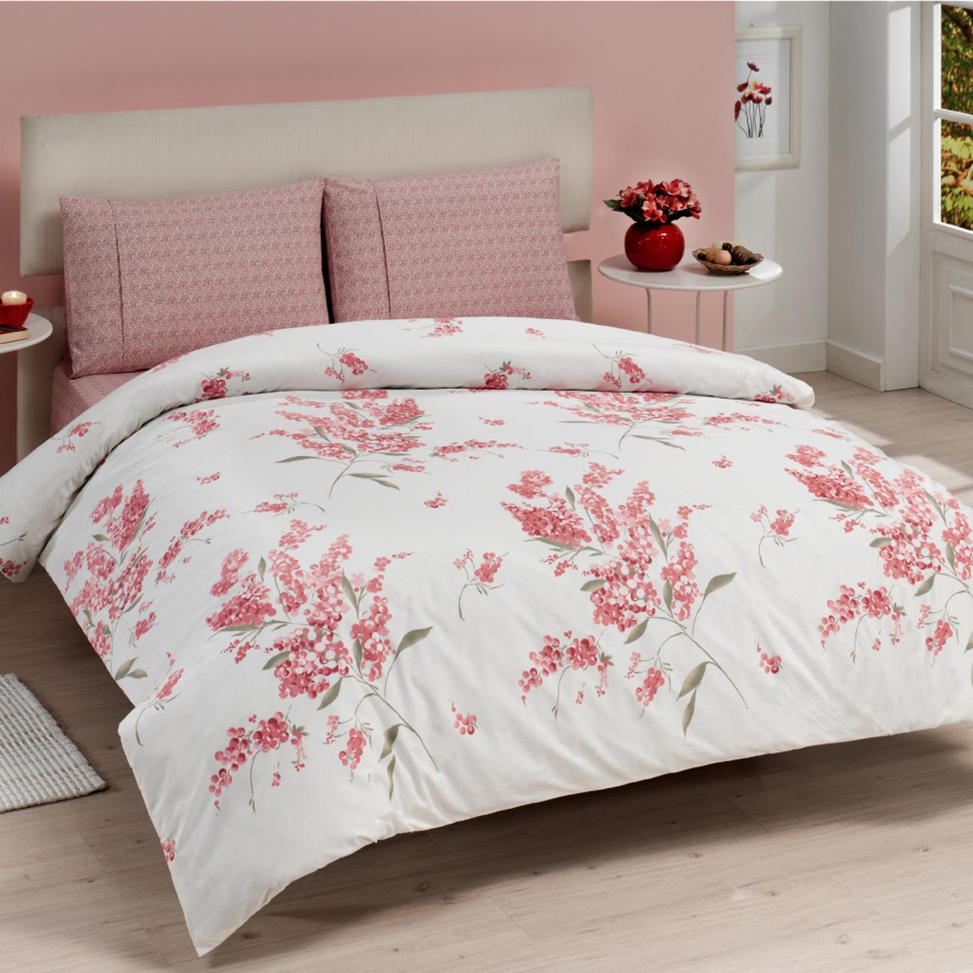 Купить Комплект постельного белья Mimoza Pink Euro, inmyroom, Турция