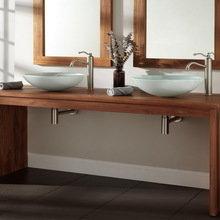 Фото из портфолио Столешницы для кухни и ванной комнаты из массива дуба – фотографии дизайна интерьеров на InMyRoom.ru