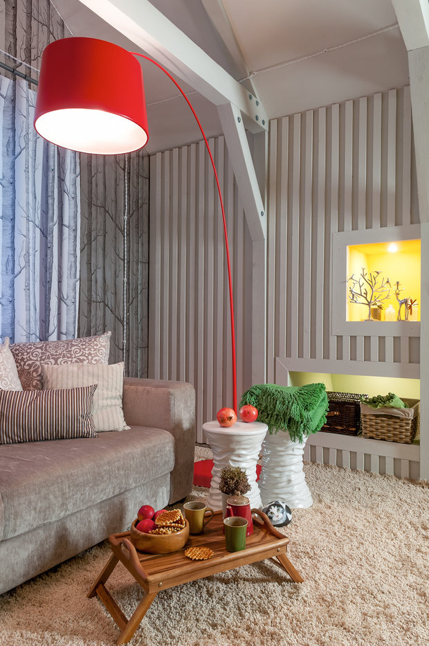 Фотография: Гостиная в стиле Скандинавский, Интерьер комнат, Мансарда – фото на InMyRoom.ru