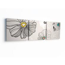 Модульная картина от дизайнера: Серые цветы