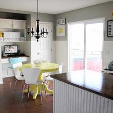 Фотография: Кухня и столовая в стиле Скандинавский, Мебель и свет, Переделка – фото на InMyRoom.ru