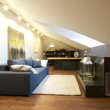 Фотография: Офис в стиле Современный, Дом, Планировки, Мебель и свет, Дома и квартиры, Мансарда – фото на InMyRoom.ru