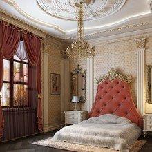 Фотография: Спальня в стиле Классический, Декор интерьера, Дом, Мебель и свет, Полки, Лепнина – фото на InMyRoom.ru