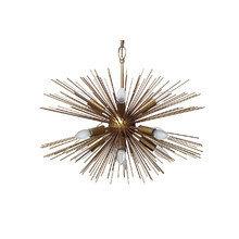 Светильник потолочный из металла в цвете латунь