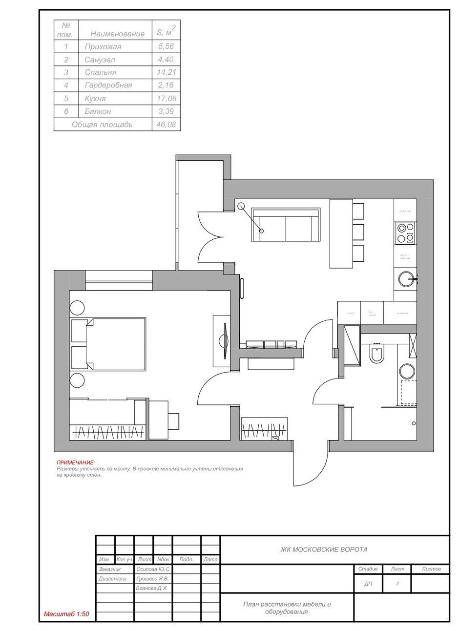 Фотография: Планировки в стиле , Современный, Квартира, Проект недели, Санкт-Петербург, Блочный дом, 1 комната, 40-60 метров, Яна Грошева – фото на InMyRoom.ru