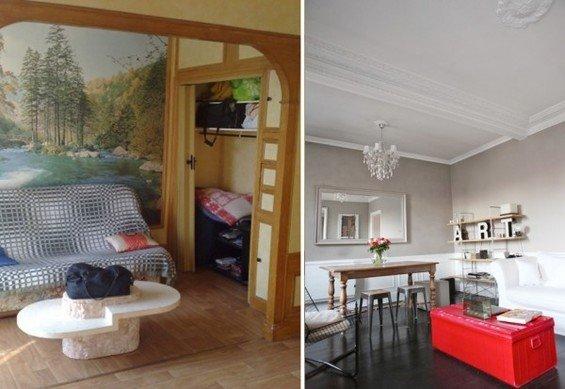 Фотография:  в стиле , Малогабаритная квартира, Квартира, Дома и квартиры, Переделка, Париж – фото на InMyRoom.ru