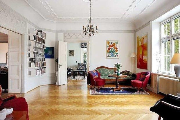 Фотография: Гостиная в стиле Прованс и Кантри, Скандинавский, Дизайн интерьера – фото на InMyRoom.ru
