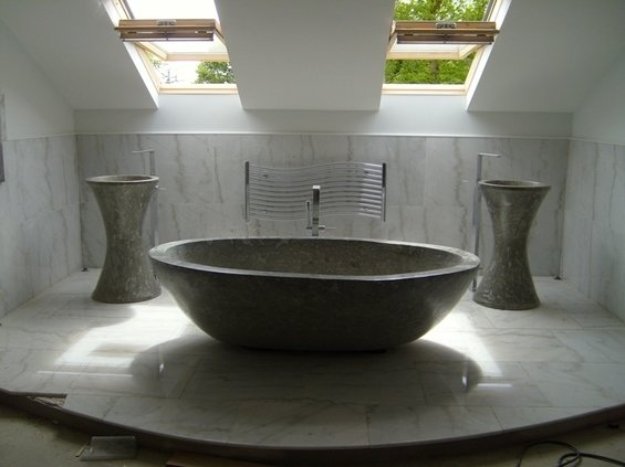 Фотография: Ванная в стиле Современный, Эко, Квартира, Дома и квартиры – фото на InMyRoom.ru