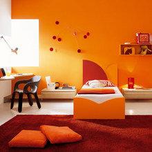 Фотография: Детская в стиле Современный, Декор интерьера, Дизайн интерьера, Цвет в интерьере, Оранжевый – фото на InMyRoom.ru