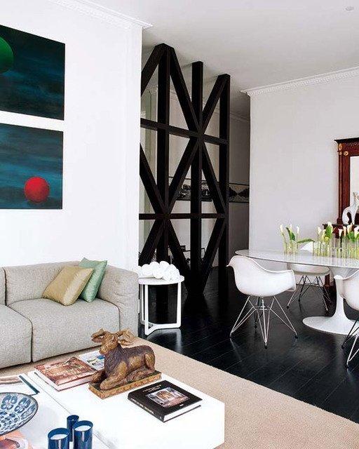 Фотография: Гостиная в стиле Скандинавский, Декор интерьера, Мебель и свет, Перегородки – фото на InMyRoom.ru