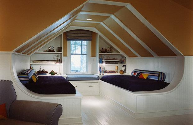 Фотография: Спальня в стиле Современный, Дом, Чердак, Мансарда – фото на InMyRoom.ru