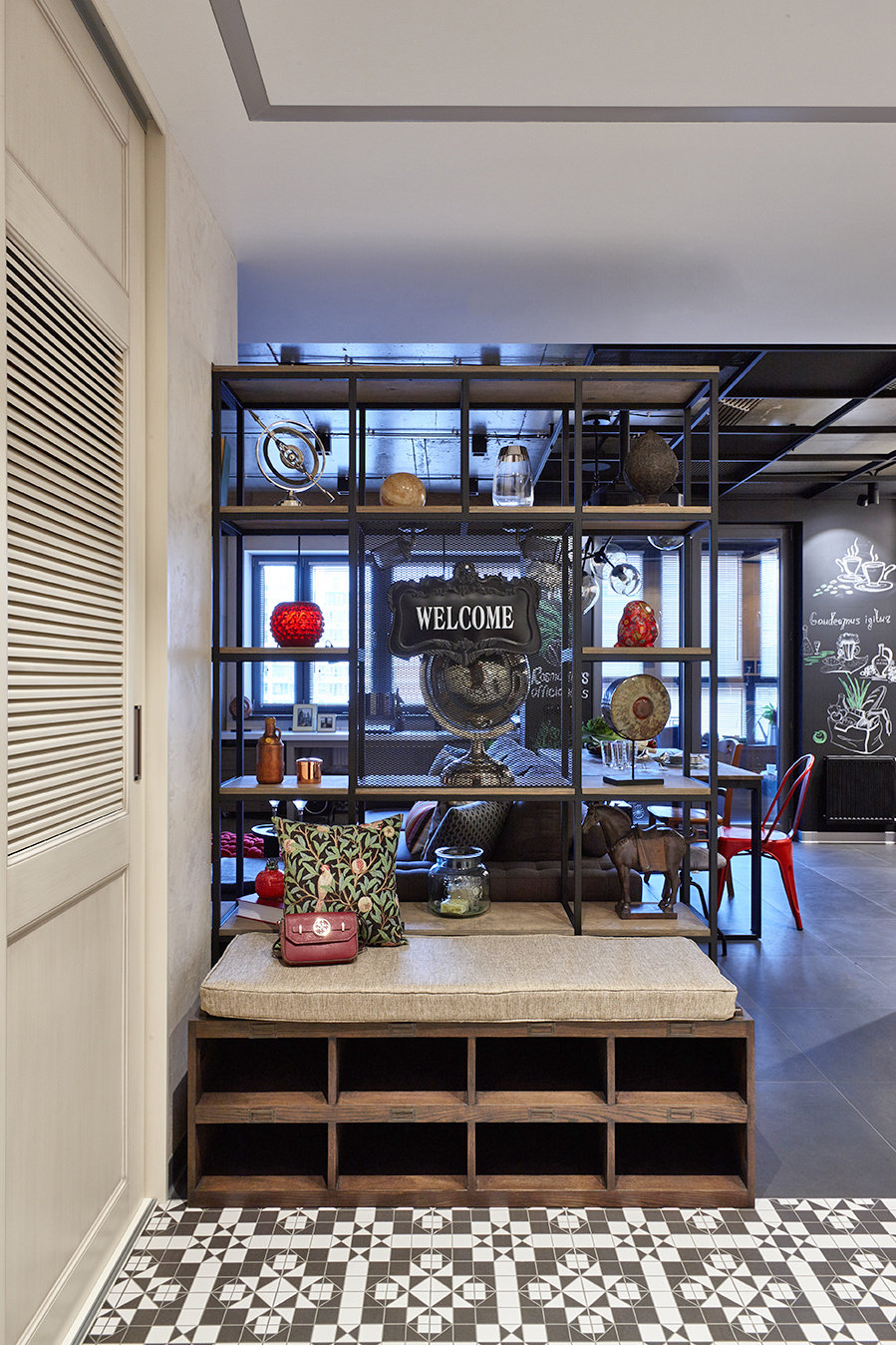 Фотография: Прихожая в стиле Лофт, Квартира, Проект недели, Москва, Ольга Райская, Монолитный дом, 2 комнаты, 60-90 метров – фото на InMyRoom.ru