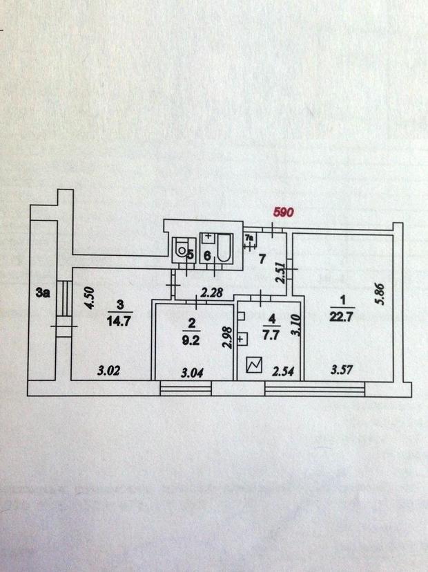 перепланировка 3-шки в II-68.