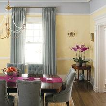 Фотография: Кухня и столовая в стиле Кантри, Декор интерьера, Дизайн интерьера, Цвет в интерьере, Желтый – фото на InMyRoom.ru