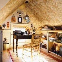 Фотография: Кабинет в стиле Кантри, Эклектика, Интерьер комнат, Мансарда – фото на InMyRoom.ru