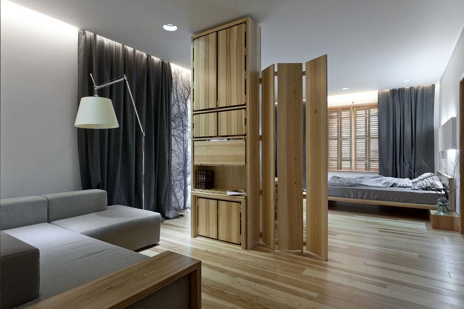 Фотография: Гостиная в стиле , Спальня, Интерьер комнат, Проект недели, Эко – фото на InMyRoom.ru