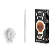 """Блюдце для соевого соуса с палочками для еды """"skull"""""""