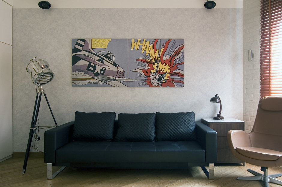 Фотография: Гостиная в стиле Современный, Лофт, Малогабаритная квартира, Квартира, Дома и квартиры, Проект недели – фото на InMyRoom.ru