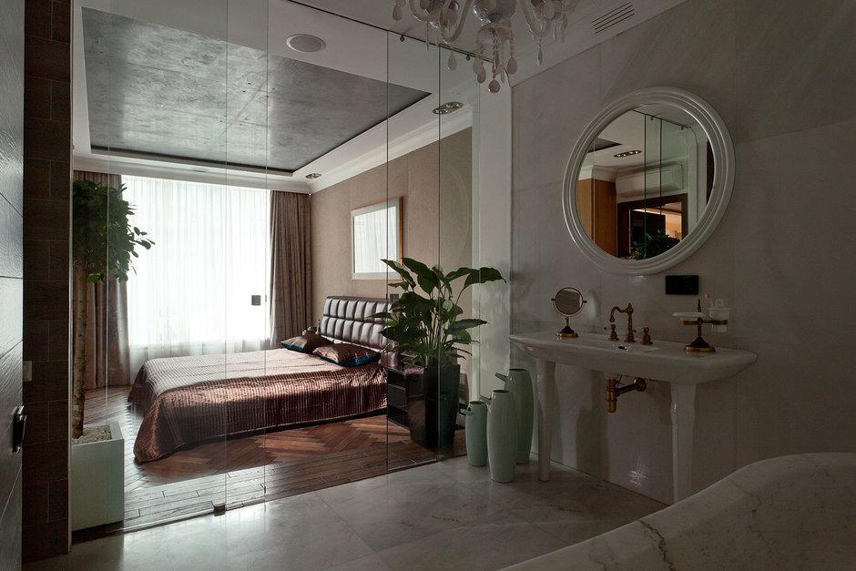 Фотография: Спальня в стиле , Ванная, Классический, Эклектика, Интерьер комнат, Проект недели – фото на InMyRoom.ru