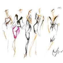Картина (репродукция, постер): MYS BK Fashion Week - Клер Эшли Томпсон