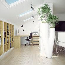 Фото из портфолио Офис на мансардном этаже – фотографии дизайна интерьеров на INMYROOM