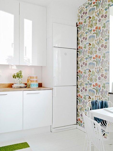 Фотография: Кухня и столовая в стиле Современный, Текстиль, Стиль жизни, Советы, Цветы – фото на InMyRoom.ru