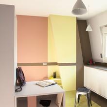 Фотография:  в стиле Современный, Малогабаритная квартира, Квартира, Франция, Планировки, Дома и квартиры, Париж – фото на InMyRoom.ru