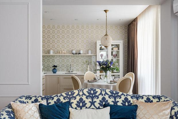 Фотография: Кухня и столовая в стиле Классический, Перепланировка, 3 комнаты, 60-90 метров, Екатерина Усикова, перепланировка в трешке – фото на INMYROOM