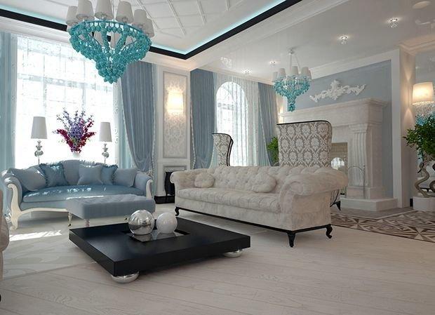 Роскошная и уютная гостиная в стиле арт-деко: 70 фото идей