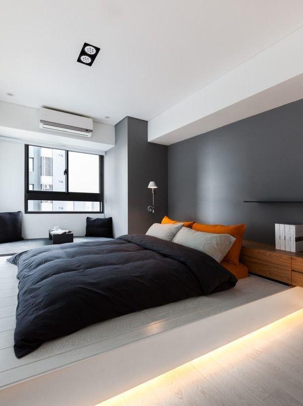 Фотография: Спальня в стиле Хай-тек, Декор интерьера, Дизайн интерьера, Цвет в интерьере – фото на InMyRoom.ru