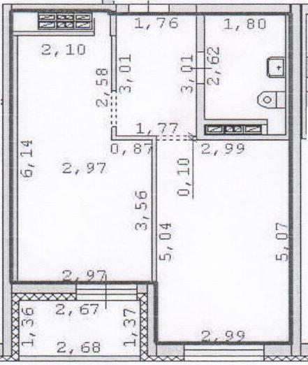Помогите обустроить однокомнатную квартиру.