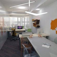 Фото из портфолио Офис строительного холдинга – фотографии дизайна интерьеров на INMYROOM