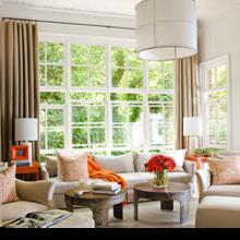 Фотография: Гостиная в стиле Восточный, Дом, Цвет в интерьере, Дома и квартиры, Оранжевый – фото на InMyRoom.ru