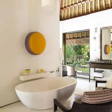 Фотография: Ванная в стиле Современный, Декор интерьера, Квартира, Дом, Декор дома, Потолок – фото на InMyRoom.ru
