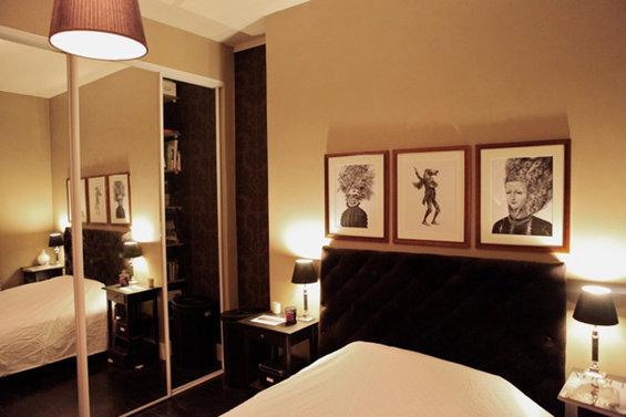 Фотография: Спальня в стиле Современный, Малогабаритная квартира, Квартира, Дома и квартиры, Переделка, Париж – фото на InMyRoom.ru