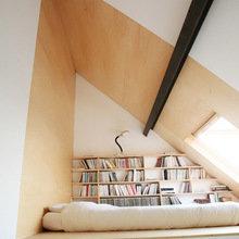 Фотография: Спальня в стиле Современный, Системы хранения, Библиотека, Домашняя библиотека – фото на InMyRoom.ru