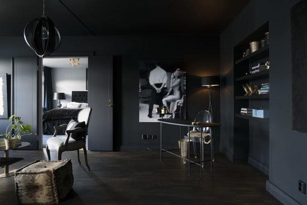 Фотография: Кабинет в стиле Современный, Декор интерьера, Квартира, Швеция, Черный, 2 комнаты – фото на InMyRoom.ru