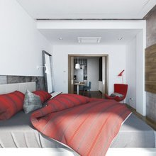 Фотография: Спальня в стиле Современный, Декор интерьера, Квартира, BoConcept, Дома и квартиры, Проект недели, Ligne Roset – фото на InMyRoom.ru