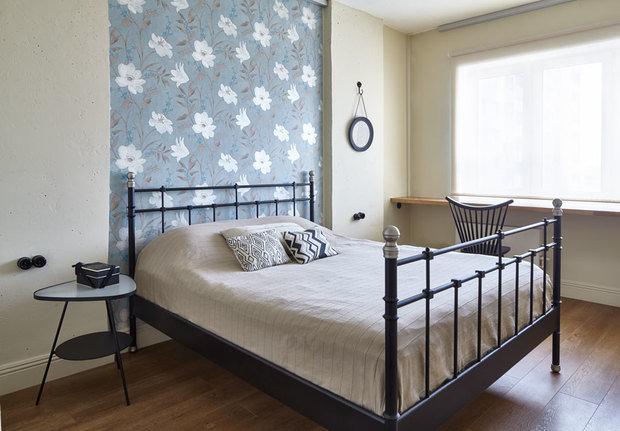 Фотография: Спальня в стиле Классический, Скандинавский, Современный, Квартира, Мебель и свет, Белый, Минимализм, Серый – фото на InMyRoom.ru