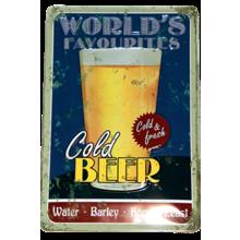 Табличка с тиснением - Пиво
