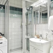 Фотография: Ванная в стиле Скандинавский, Кантри, Декор интерьера, Квартира, Белый – фото на InMyRoom.ru