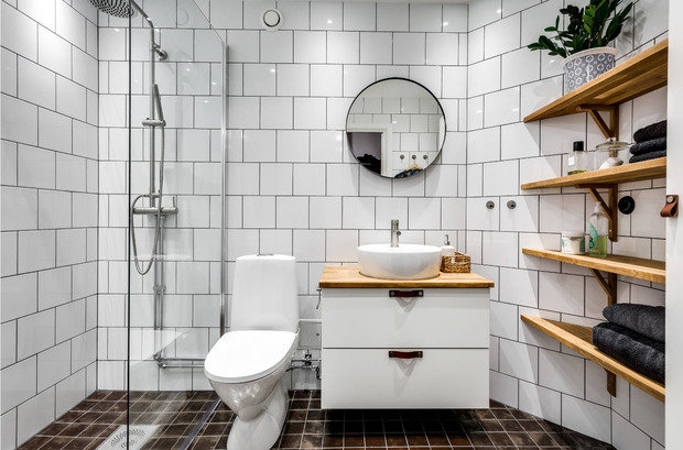 Фотография: Ванная в стиле Скандинавский, Квартира, Дом, Советы, Цезарь Сателлит – фото на InMyRoom.ru