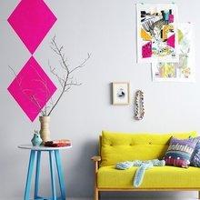 Фотография: Декор в стиле Скандинавский, Современный, Декор интерьера, Дизайн интерьера, Цвет в интерьере, Желтый, Розовый, Оранжевый, Неон – фото на InMyRoom.ru