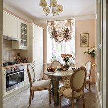 Фотография: Кухня и столовая в стиле Кантри, Малогабаритная квартира, Квартира, Проект недели, Москва, Bonhomedesign – фото на InMyRoom.ru