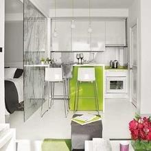 Фотография: Кухня и столовая в стиле Современный, Малогабаритная квартира, Квартира, Мебель и свет, Дома и квартиры – фото на InMyRoom.ru